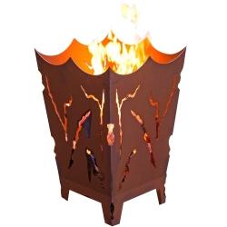 Feuerkorb Mystik aus Edelrost