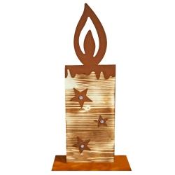 Sternchenkerze aus Fichtenholz