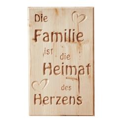 """Holztafel """"Heimat"""""""