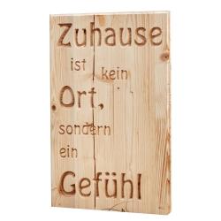 """Holztafel """"Zuhause"""""""