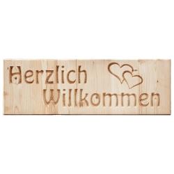 """Holztafel """"Herzlich..."""