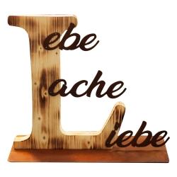 """Schriftzug """"Lebe, Lache,..."""